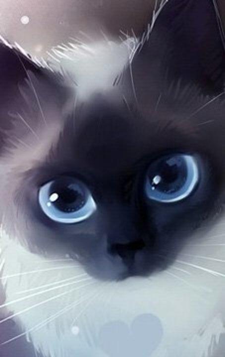котята с большими глазами картинки нарисованные образом, если сдача